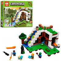"Конструктор Lepin Minecraft  ""База на водопаде"" 568 деталей (18028)"