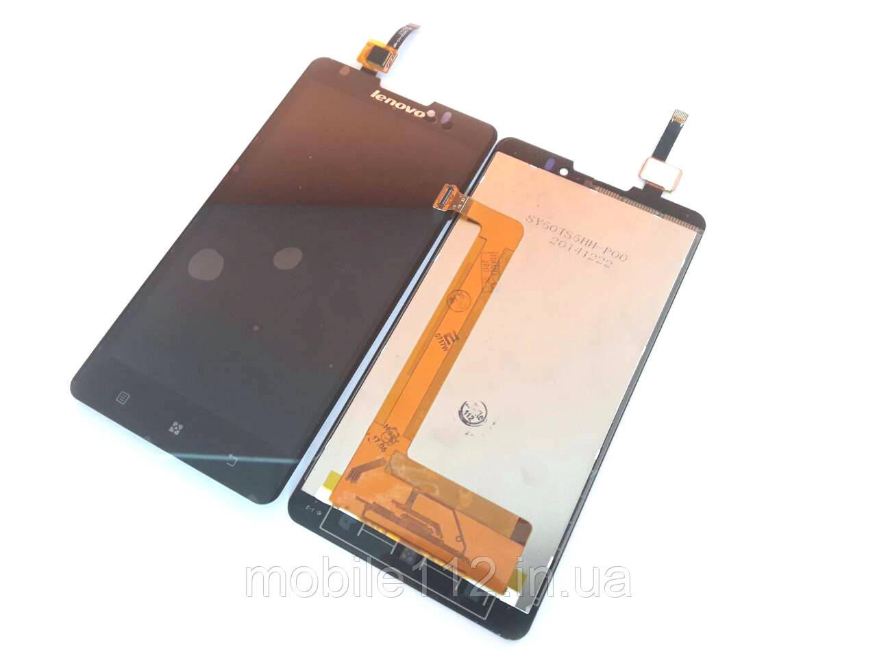 Модуль для Lenovo P780 (Дисплей + тачскрин), чёрный, оригинал PRC