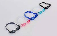 Очки, беруши для плавания SAILTO 1601AF (пластик, силикон, цвета в ассортименте)