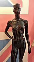 Манекен женский черный глянец
