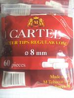 """Фильтры для самокруток""""Cartel""""filter tips regular long 22 mm."""