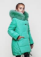 Детская зимняя куртка Диана с натуральным мехом Размеры 122- 146
