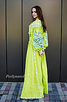 Платье с вышивкой СЖ 0911