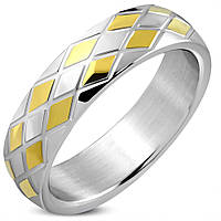 Женское кольцо из нержавеющей стали двухцветное