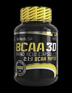 BioTech BCAA 3D 90 caps, Биотеч БЦА 3Д 90 капсул