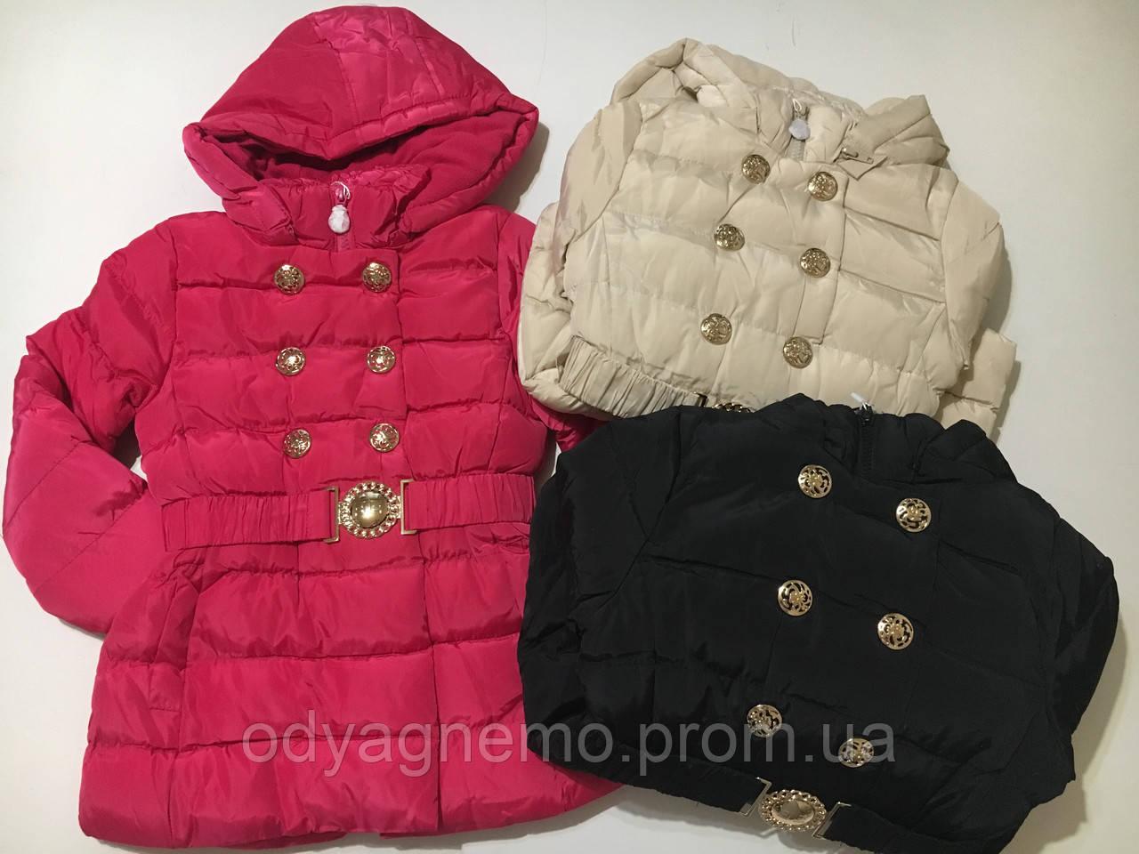 Курточка на флисовой подкладке для девочек H&S оптом ,134/140-158/164 рр.