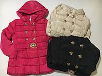 Курточка на флисовой подкладке для девочек H&S оптом ,134/140-158/164 рр., фото 1