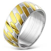 Женское кольцо из нержавеющей стали двухцветное 17.25