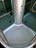 Гидромассажный бокс с низким поддоном Diamond A-004 (прозрачные/зеркальные зелёные), 900х900х2130 мм., фото 4
