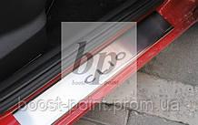 Захисні хром накладки на пороги Renault Clio 2 5D (рено кліо 1998р-2005р)