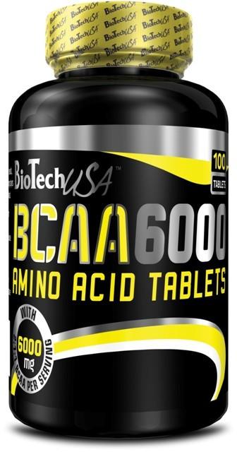 BioTech BCAA 6000 100 tab, Биотеч БЦА 6000 100 таблеток