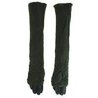 Перчатки длинные женские вязаные на меху, размеры норма (Китай), купить оптом в Одессе на 7 км
