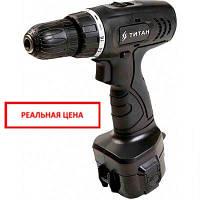 Дрель-шуруповерт аккумуляторная Titan ПДША12-2