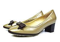 Туфли бежевые женские кожаные Lisa Moro  на низком каблуке ( осень, весна, лето )