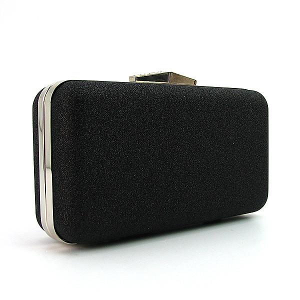 127984650e40 Вечерний черный клатч-бокс с блестками на цепочке - Интернет магазин сумок  SUMKOFF - женские