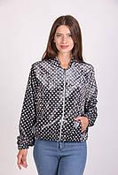 Велюровая женская куртка-бомбер серого цвета размер:М/Л,ХЛ,ХХЛ
