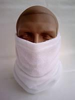 Бафф белый микрофлис эластичный зима, фото 1