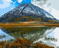 """Картина по номерам """"Горное озеро"""" [40х50см, Без Коробки]"""