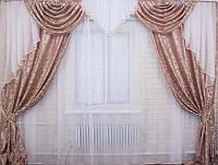 Комплект штор с ламбрекеном  красивый в Украине, фото 1