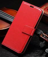 Кожаный чехол-книжка для Samsung Galaxy S7 красный