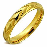 Обручальное кольцо из нержавеющей стали 16.5 20, золотой, 4