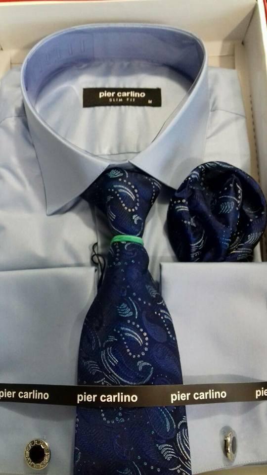 Сорочка Pier Carlino з краваткою під запонки
