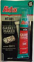 Термостойкий силиконовый герметик  Akfix HT300 50 мл чёрный