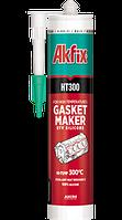 Термостойкий силиконовый герметик  Akfix HT300 310 мл чёрный