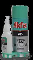 Клей з активатором для експрес склеювання Akfix 705 200мл/50гр