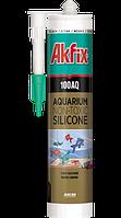 Аквариумный силиконовый герметик  Akfix 100AQ чёрный