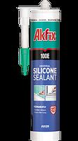 Универсальный силиконовый герметик  Akfix 100E 280мл чёрный