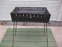 Мангал - чемодан на 10 шампуров