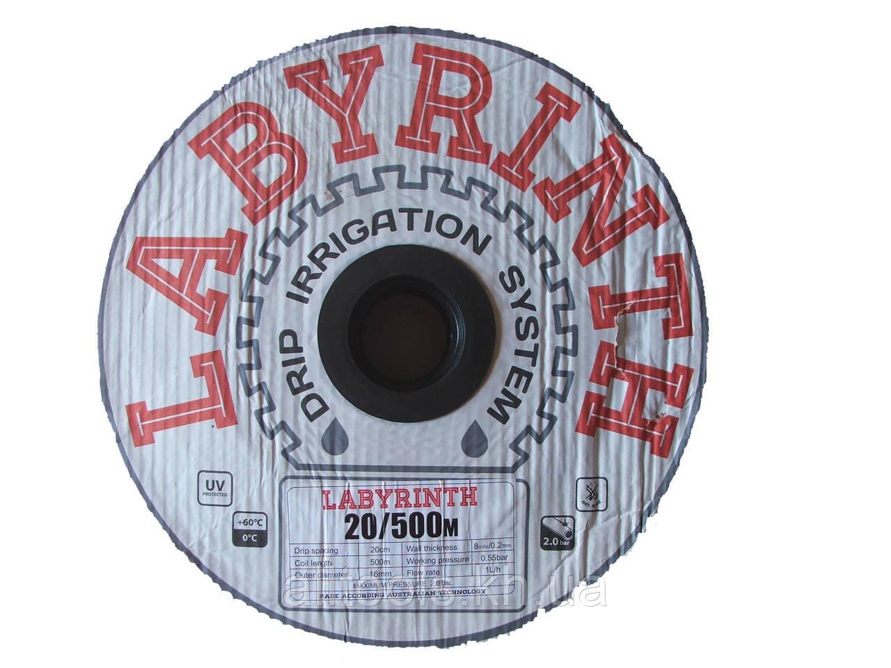 """Капельная лента щелевая """"LABYRINTH"""" 500м 45см"""