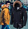 Мужская куртка парка осень - 2742 графит