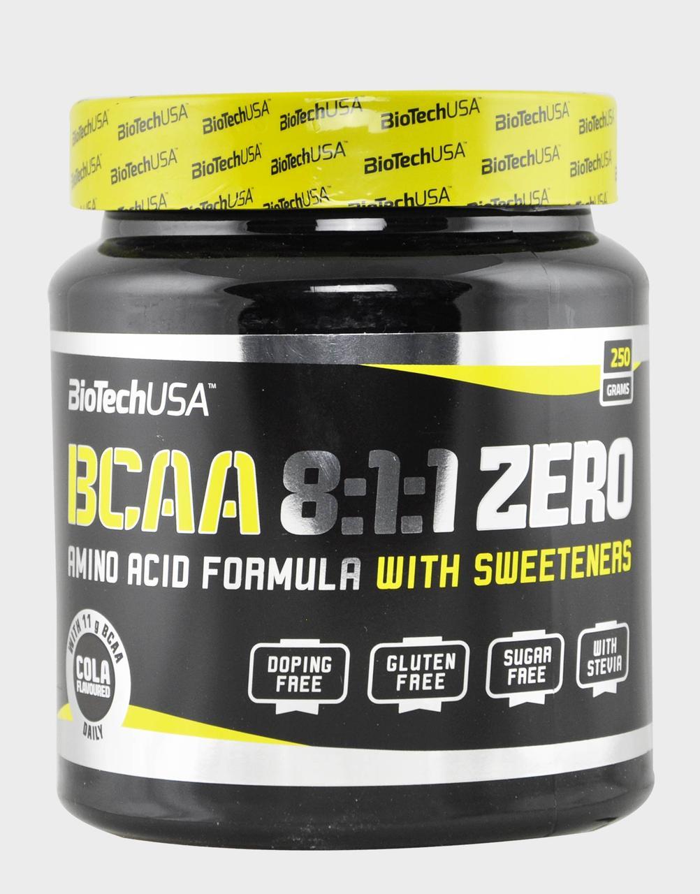 BioTech BCAA 8:1:1 ZERO 250 g, Биотеч БЦА 8:1:1 250 грамм
