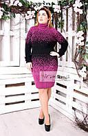 Платье вязанное Джунгли батал