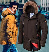 Демисезонная куртка парка - 2742 коричневый