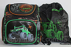 Набор школьный 3D рисунок WinerBest Car (рюкзак + сменка) 17-1030