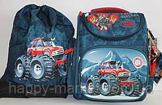 Набор Ранец Школьный каркасный ортопедический Джип (рюкзак + сменка+Часы) 17-3-154