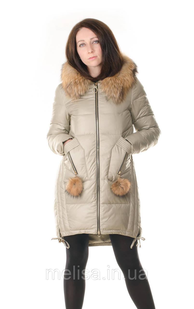 3804a49360da Женская Зимняя Куртка с Натуральным Мехом Wow Ladykaka — в Категории ...