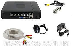 Комплект видеонаблюдения - камера глазок дверной K-701 с регистратором
