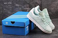 Adidas Stan smith  женские мятные кроссовки  (Реплика ААА+), фото 1