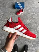 """Мужские кроссовки Adidas Iniki Boost """"Bright Red"""" красные топ реплика, фото 3"""
