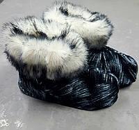 Чуни из натуральной овчины с кроликом 36-41р