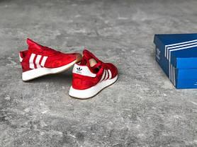 "Женские кроссовки Adidas Boost ""Bright Red"" топ реплика, фото 2"