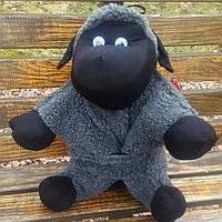 Баранчик Шон игрушка подушка большой серого цвета