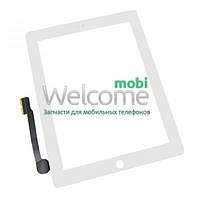 Сенсор (тач скрин) Apple iPad 3,4 white (оригинал)