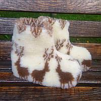 Чуни из натуральной овчины с оленями 36-41р