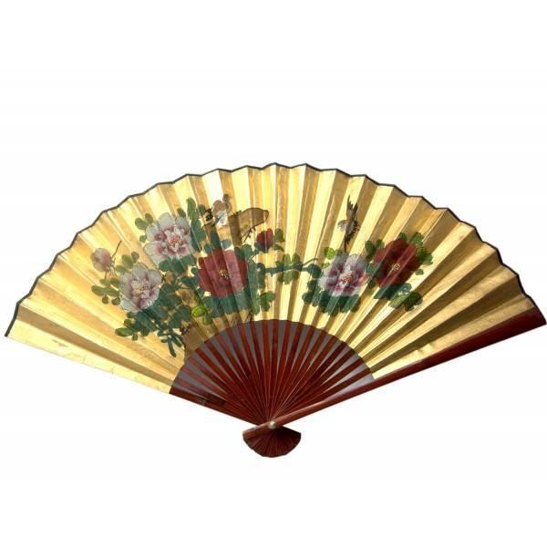 Декоративный веер настенный Золото