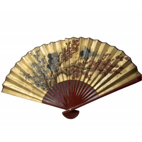 Японский веер на стену Золото